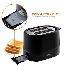 Cleaning Toaster Amazon Com Aicok Toaster 2 Slice With 7 Toast Shade Settings And