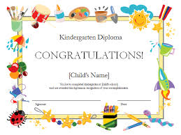 kindergarten diploma certificate office templates