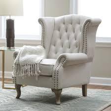 Tufted Arm Chair Design Ideas Belham Living Tatum Tufted Arm Chair With Nailheads Accent