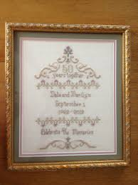 50th anniversary gifts wedding wedding 50th anniversary gift ideas the next best stitch