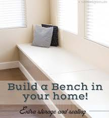 Diy Bench With Storage Diy Bench Seat With Storage Diy Project