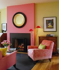 Pink Yellow Wall Color Living Room Home Paint  Wallpaper - Gold wall color living room
