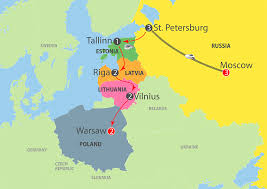 Map Russia K982 The Best Of Russia Baltic U0026 Warsaw 14 Day Escorted Tour