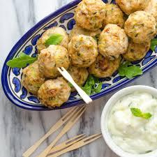 Main Dish With Sauce - meatballs with tzatziki sauce