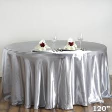silver 120 satin tablecloth efavormart