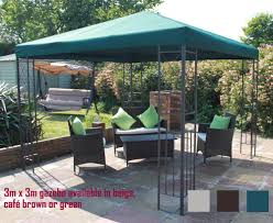 Patio Gazebos For Sale by Twyford Garden Party Metal Frame Gazebo 3m X 3m Beige Green Or