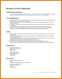 exles of a resume summary summary on resume exles oloschurchtp