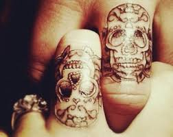 skull wedding bands 42 wedding ring tattoos that will only appeal to the most amazing