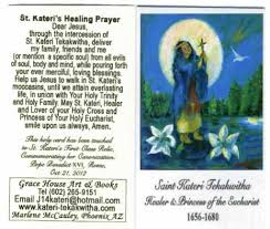 card for sick person healing prayer holy card lover of the cross kateri tekakwitha