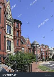 dc victorian rowhouses side stock photo 1149192 shutterstock