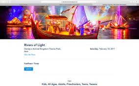 rivers of light dining package of light dining packages are now available