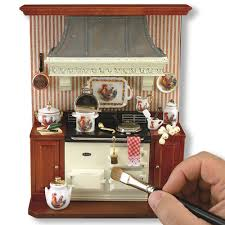 Dollhouse Kitchen Furniture by Appliances Cabinets U0026 Furniture Miniature Cottage Dollhouse