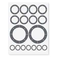 circle temporary tattoos zazzle