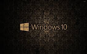 windows 10 text logo on a cracked wall wallpaper computer