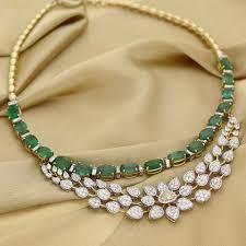 gold diamond emerald necklace images Diamond chandelier necklace inspirational manubhai jeweller s jpg