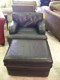 Leather Chair With Ottoman Furniture Enchanting Chair And A Half Slipcover For Home