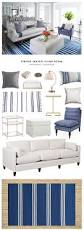 copy cat chic room redo striped indigo living room copycatchic