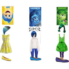 Inside Out Costumes Inside Out Joy Sadness And Disgust Polyvore