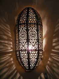 Moroccan Wall Sconce Moroccan Darken Metal Wall Light Sconce And Its Openwork Brass