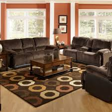 Decorating Living Room With Leather Couch Living Room Spacious Living Room Design With Red Wall Color And