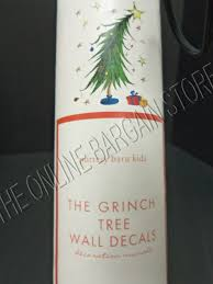 pottery barn kids christmas tree holiday the grinch wall decal picture 1 of 3