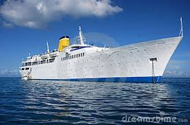 time cruise ship cruise ship on achor royalty free stock