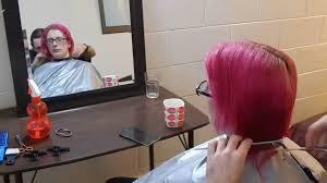 spiked haircuts medium length shoulder length pink hair to bob to spiky short haircut