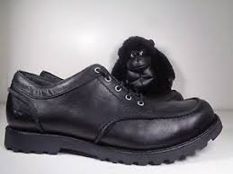 s ugg black leather mens ugg black leather casual oxford shoes boots s n 3028 size 13