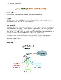case study inter vlan routing