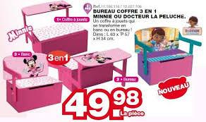 coffre a jouet bureau maxi toys promotion bureau coffre 3 en 1 minnie ou docteur la
