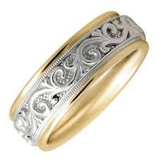 wedding ring depot platinum gold two tone paisley floral band 7mm 3006227 shop at