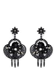 Gunmetal Chandelier Earrings J Crew Midnight Crystal Chandelier Earrings In Black Lyst