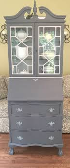 dresser with desk attached beautiful secretary with serpentine drawers i will be sad to see