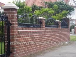 garden walls with railings home outdoor decoration