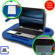 Laptop Cushion Desk Laptop Desk Cup Holder Desk Led Light Bed Tray Foam Cushion