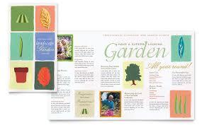 garden u0026 landscape design brochure template word u0026 publisher