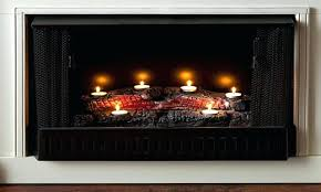 fireplace odd tealight fireplace logs for house ideas tealight
