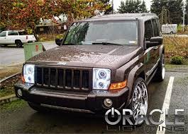 jeep commander black headlights oracle halo headlights complete assemblies for jeep 2006 2010