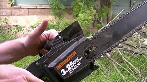 how to use an electric chainsaw youtube