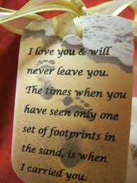 footprints sand quotes success