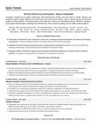 sample resume for software tester quality engineer resume free resume example and writing download quality engineer sample resume customer reference letter quality engineer resume quality engineer sample resumehtml