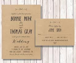 kraft paper wedding invitations 28 simple rustic wedding invitations vizio wedding