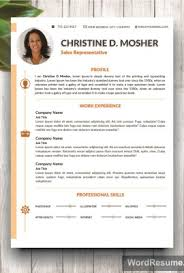 resume template 4 pages cv template cover letter and portfolio