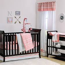 Pink And Gray Nursery Bedding Sets by A Tribe Called Cute Crib Starter Set In Coral