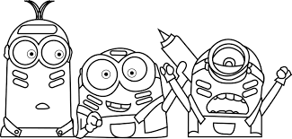 minions color war coloring wecoloringpage