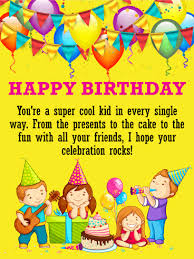 kid cards birthday cards for kids birthday greeting cards by davia