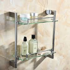 multi use storage rack stainless steel glass bathroom kitchen