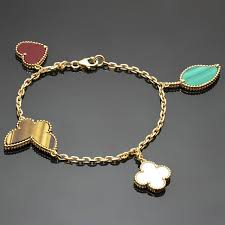 lucky leaf bracelet images Van cleef and arpels lucky alhambra gemstone gold bracelet at 1stdibs jpg