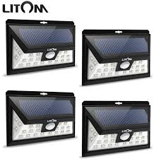 driveway motion sensor light litom 24 led solar light wide angle security motion sensor light