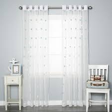 Sheer Curtains Grommet Top Best Home Fashion Inc Pom Pom Polka Dots Sheer Grommet Curtain